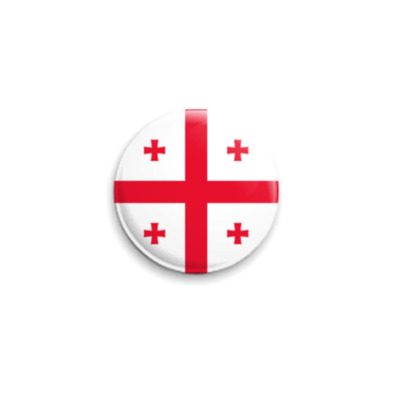 Значок 25мм  'Флаг Грузии'