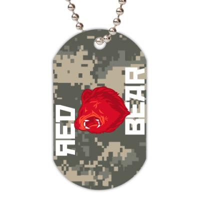 Жетон dog-tag Red Bear