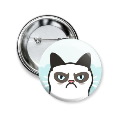 Значок 50мм Grumpy Cat