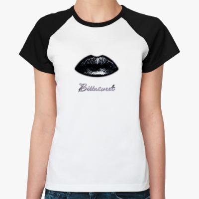 Женская футболка реглан BITTASWEET губы