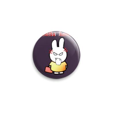 Значок 25мм Злой кролик