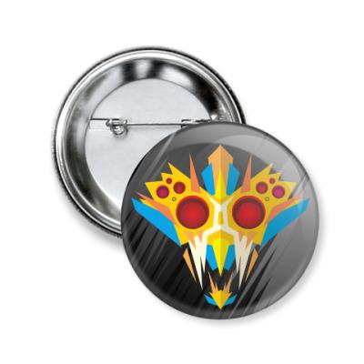 Значок 50мм Ритуальная маска воина