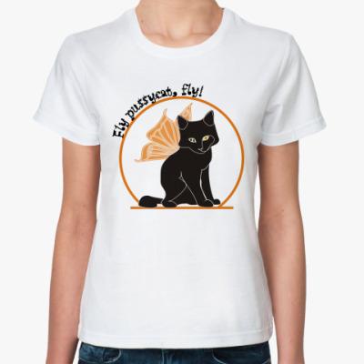 Классическая футболка Флайпусик чёрный