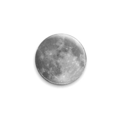 Значок 25мм  Луна