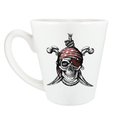 Чашка Латте Весёлый Роджер
