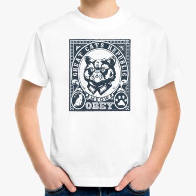 Детская футболка Подчиняйся коту! Подчинись!!!