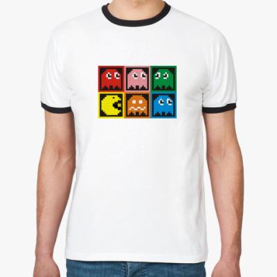 Футболка Ringer-T Pac-Man