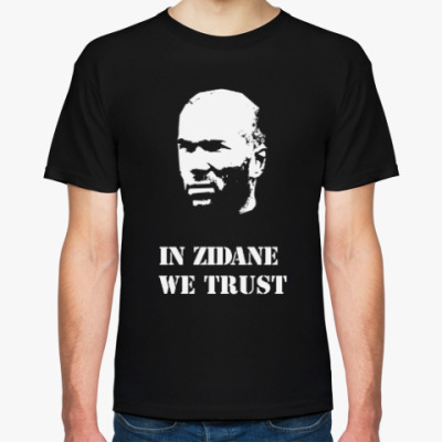 Футболка In Zidane We Trust - black
