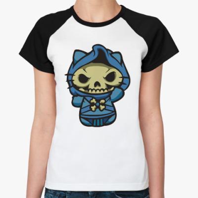 Женская футболка реглан Kitty Скелетор