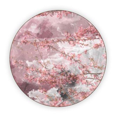 Костер (подставка под кружку) Японская сакура весной