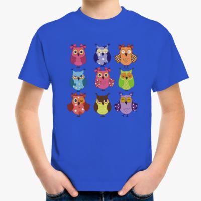 Детская футболка Сова. Птица. Bird. Пернатые.
