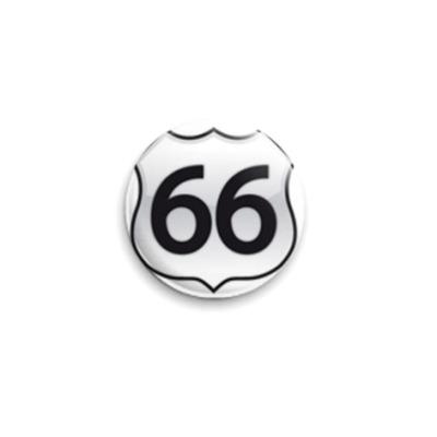 Значок 25мм  Road 66