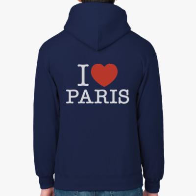 Толстовка худи I love Paris