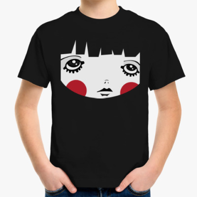 Детская футболка Девочка с красными щеками