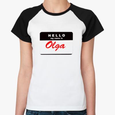 Женская футболка реглан Оля