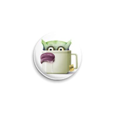 Значок 25мм для ненавистников чая