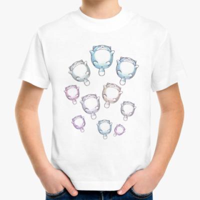 Детская футболка Круглые котики