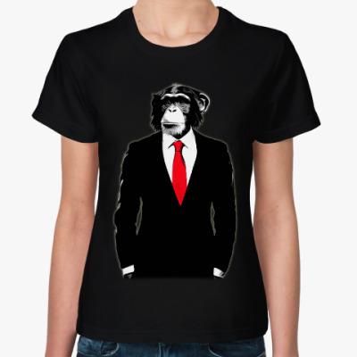 Женская футболка Обезьяна