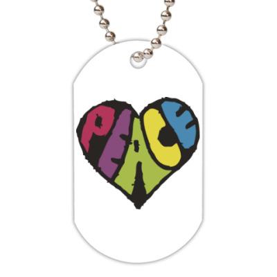 Жетон dog-tag Сердце мира