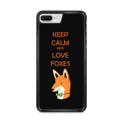 Чехол для iPhone Любовь к лисичкам