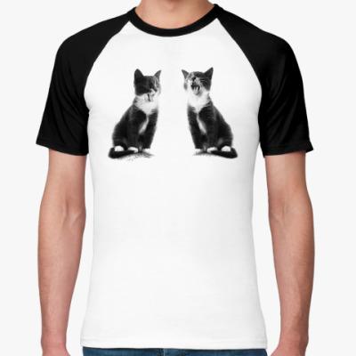 Футболка реглан Две кошки