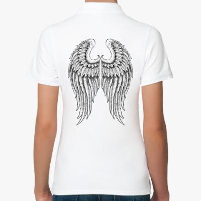 Женская рубашка поло Крылья