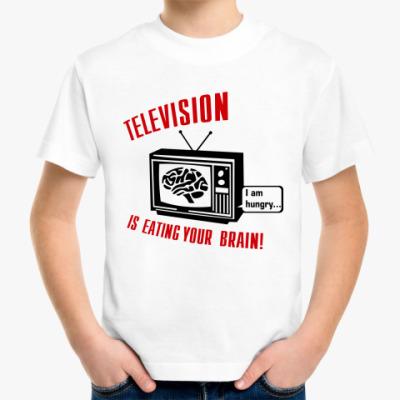 Детская футболка Телевидение ест мозг