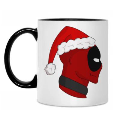 Кружка Christmas with Deadpool