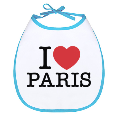 Слюнявчик I love Paris