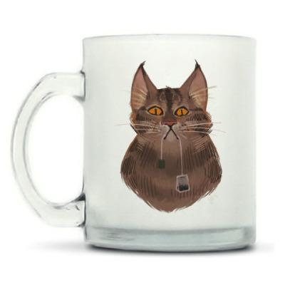 Кружка матовая Чайный кот