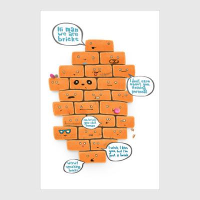 Постер Funny Bricks