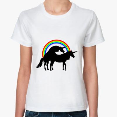 Классическая футболка Единороги