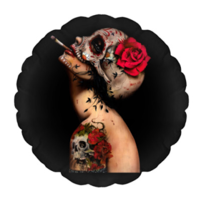 Подушка Sugar skull girl