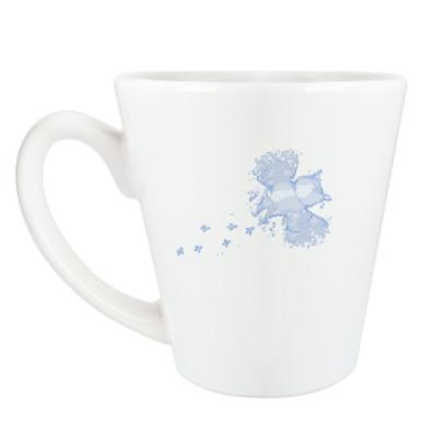Чашка Латте Сова в снегу
