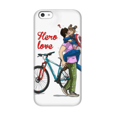 Чехол для iPhone 5c Hero-вая любовь