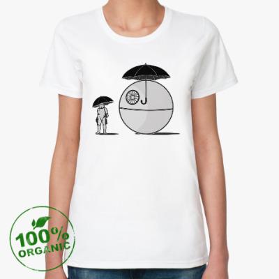 Женская футболка из органик-хлопка My neighbor Death Star