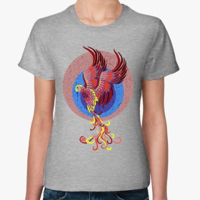 Женская футболка Птица Феникс