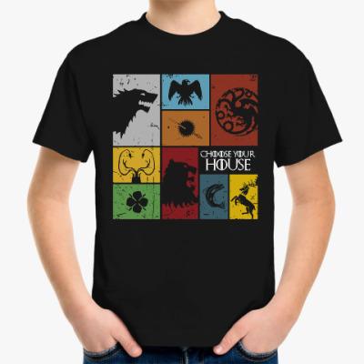Детская футболка Игра престолов.Дома