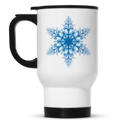 Кружка-термос снежинка