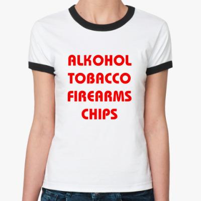 Женская футболка Ringer-T Chips (жен.)