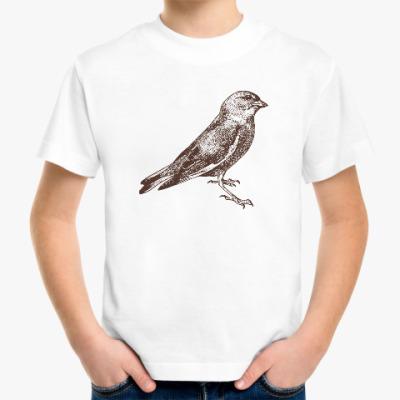 Детская футболка Vintage Bird Птица Винтаж