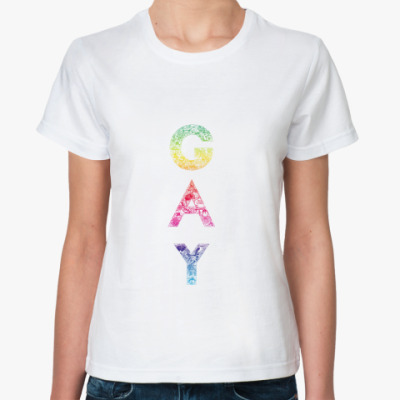 Классическая футболка gay