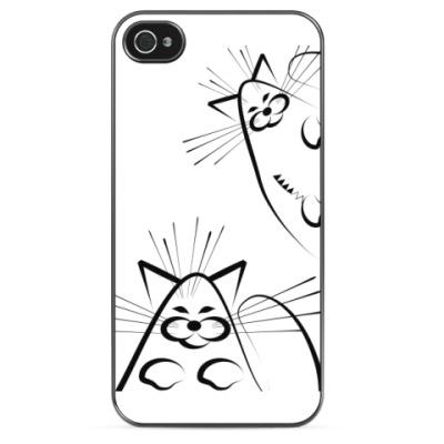 Чехол для iPhone Веселые коты