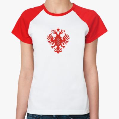 Женская футболка реглан Герб Российской империи