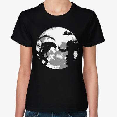 Женская футболка Хищник и Чужой