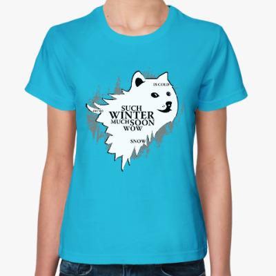 Женская футболка Doge Stark Игра престолов