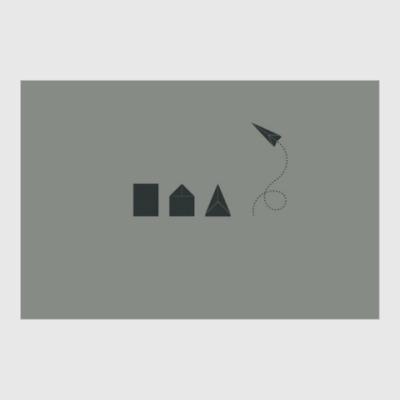Постер Бумажный самолётик