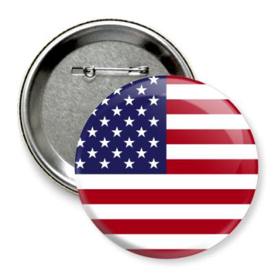 Значок 75мм США, USA, Америка
