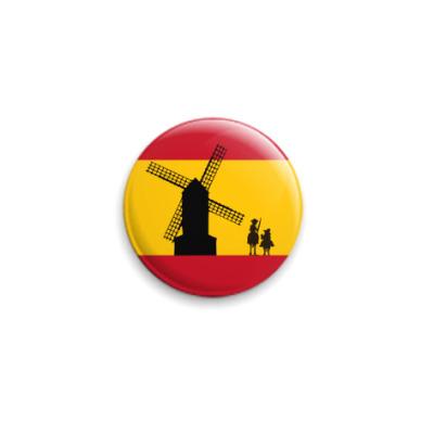 Значок 25мм Флаг с Дон Кихотом