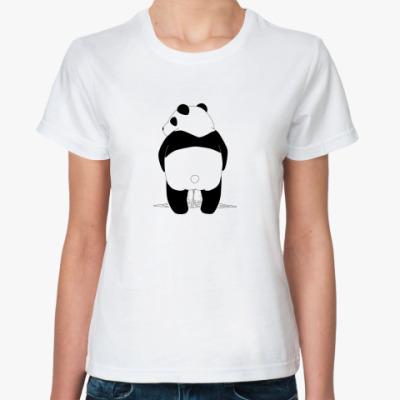 Классическая футболка Писающая панда